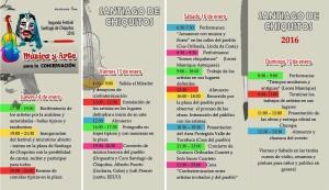 Programa II Festival Arte y Musica Santiago Chiquitos
